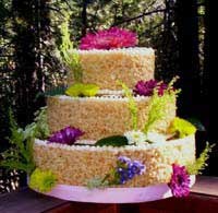 rice krispies not your typical wedding cake bubbly bride. Black Bedroom Furniture Sets. Home Design Ideas