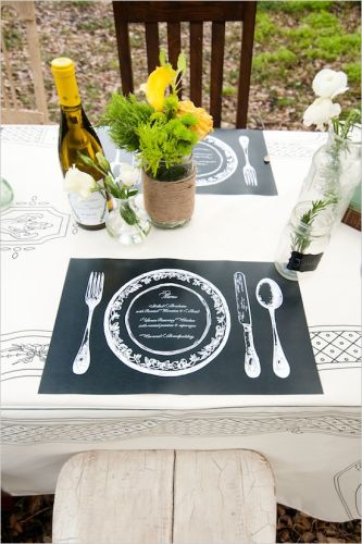 wedding placemats for brides