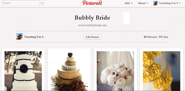 Pinterest bubblybride board