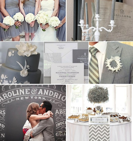 grey wedding details
